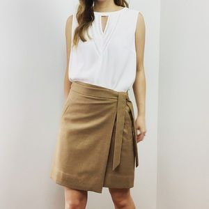 J. Crew Tie Waist Mini Skirt